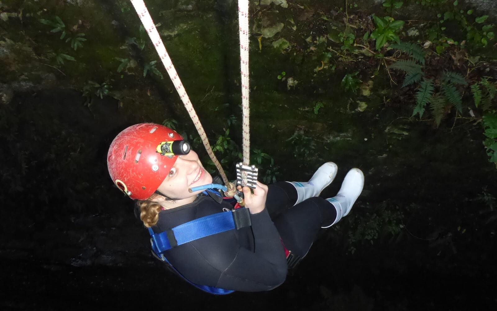 Abseilen Waitomo Caves, Neuseeland