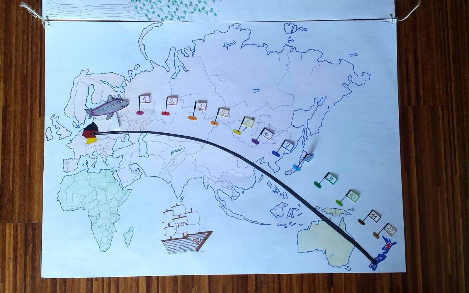 Bewerbungsunterlagen Stepin-Stipendium Weltkarte