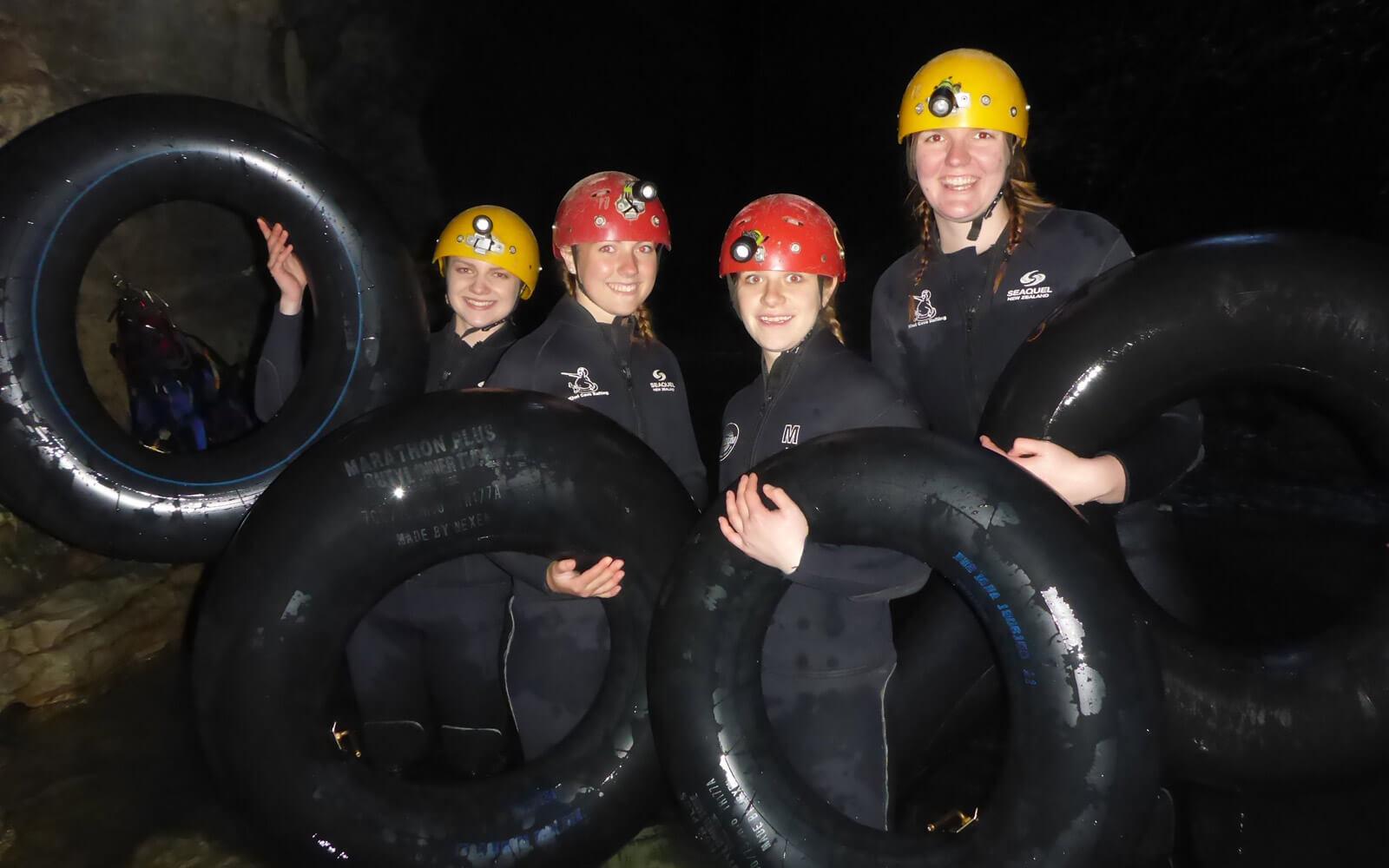 Black Water Rafting-Gruppe