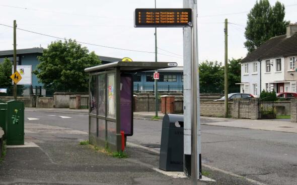 Bushaltestelle Dublin