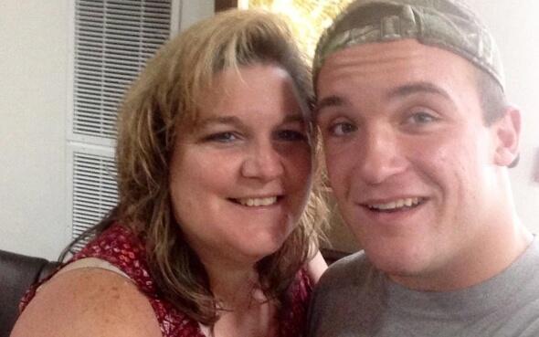 Daniel und seine amerikanische Gastmutter