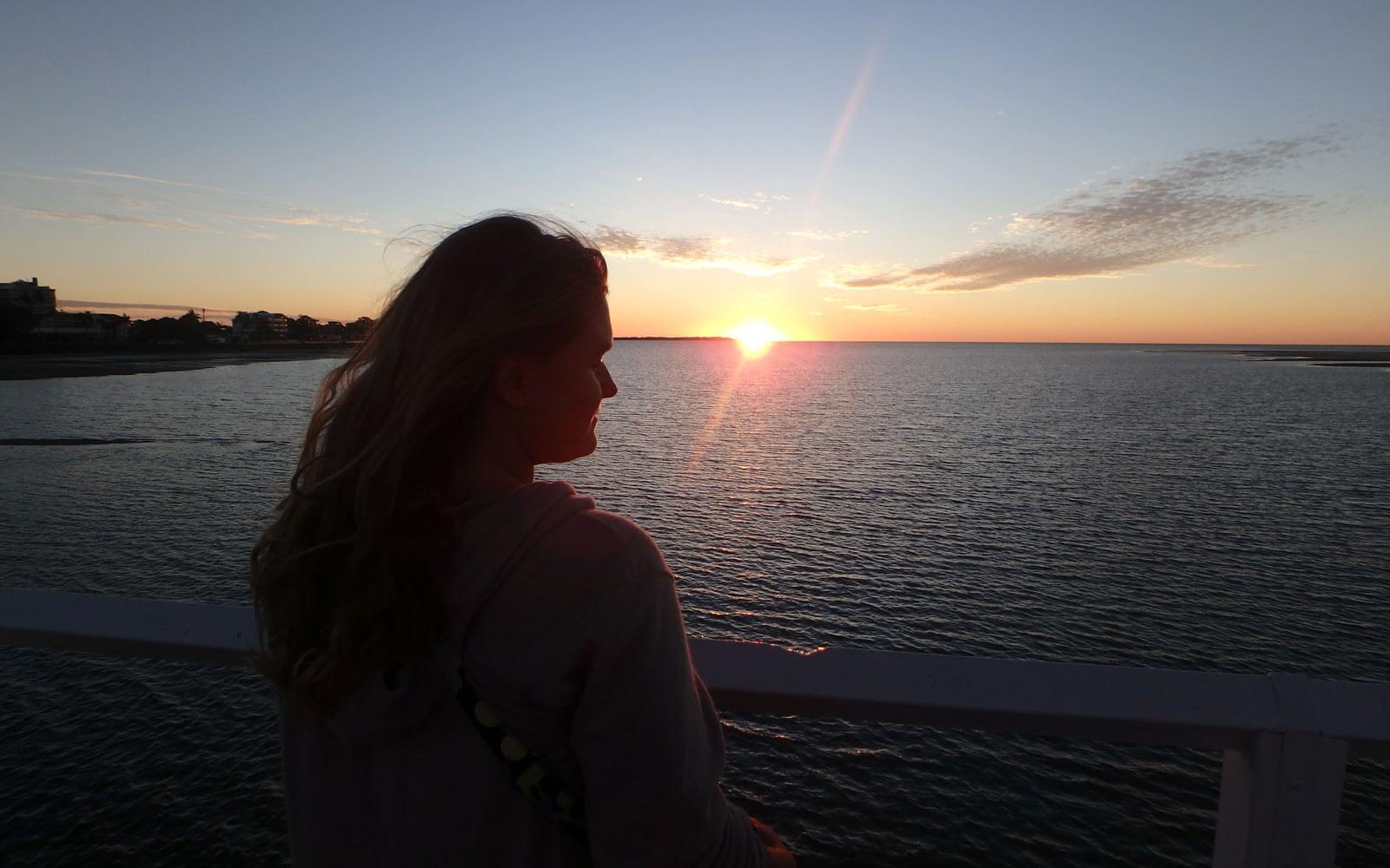Sonnenuntergang am Meer in Australien