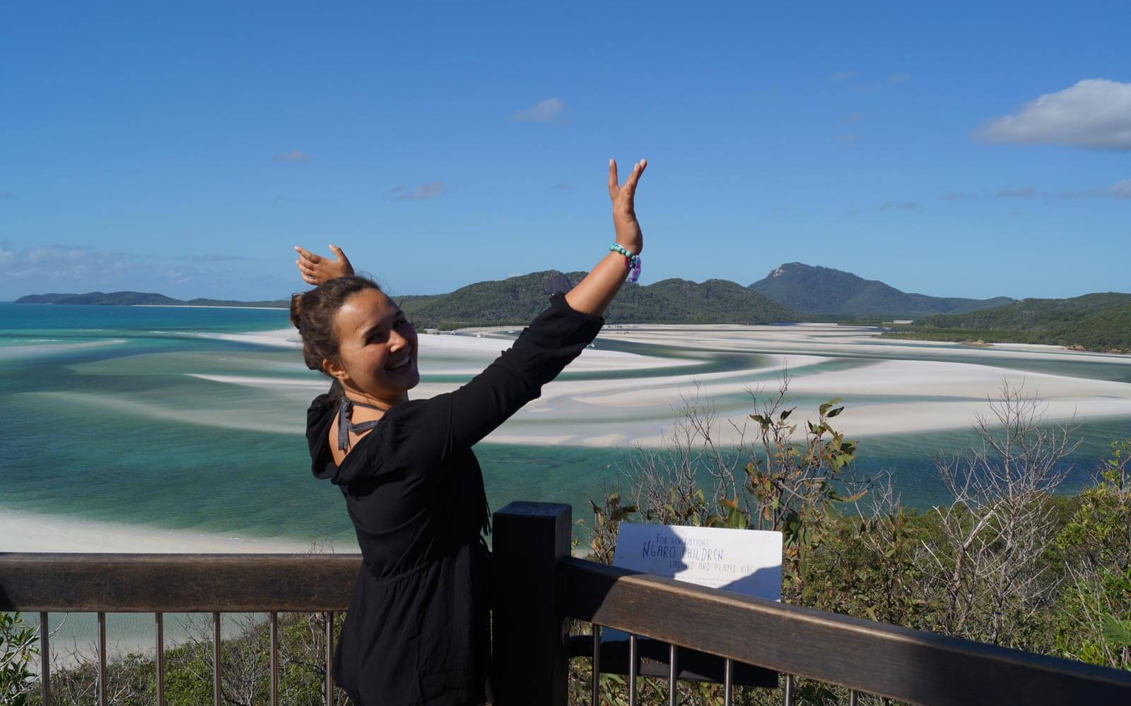 Luisa auf den Whitsunday Islands in Australien