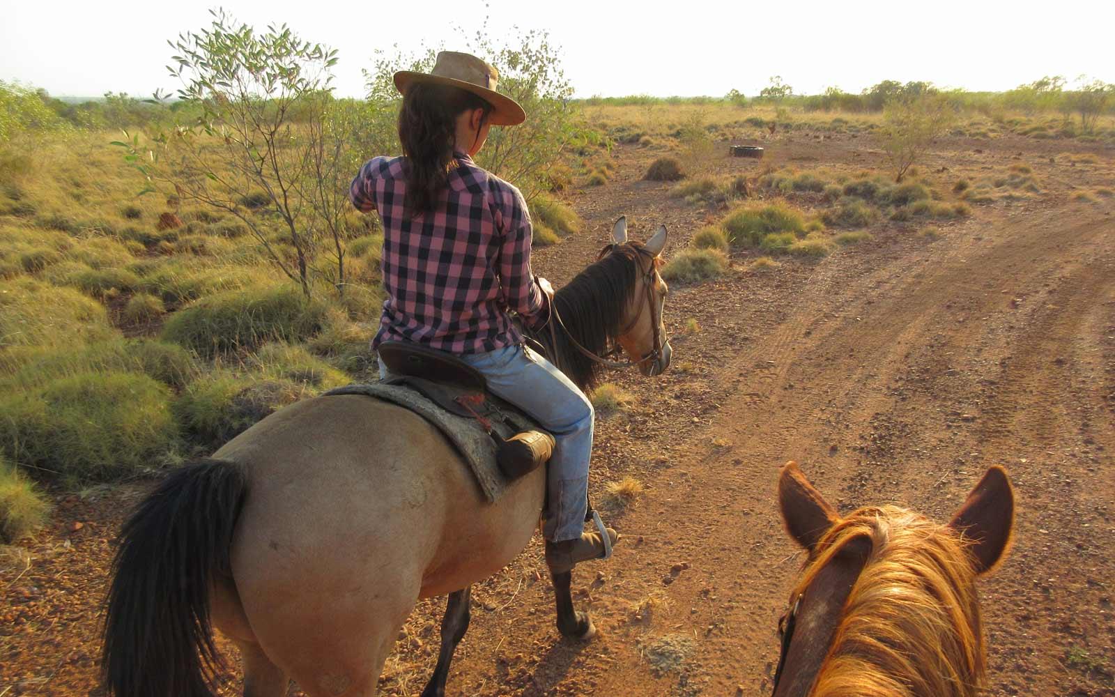 Reitet durchs australische Outback