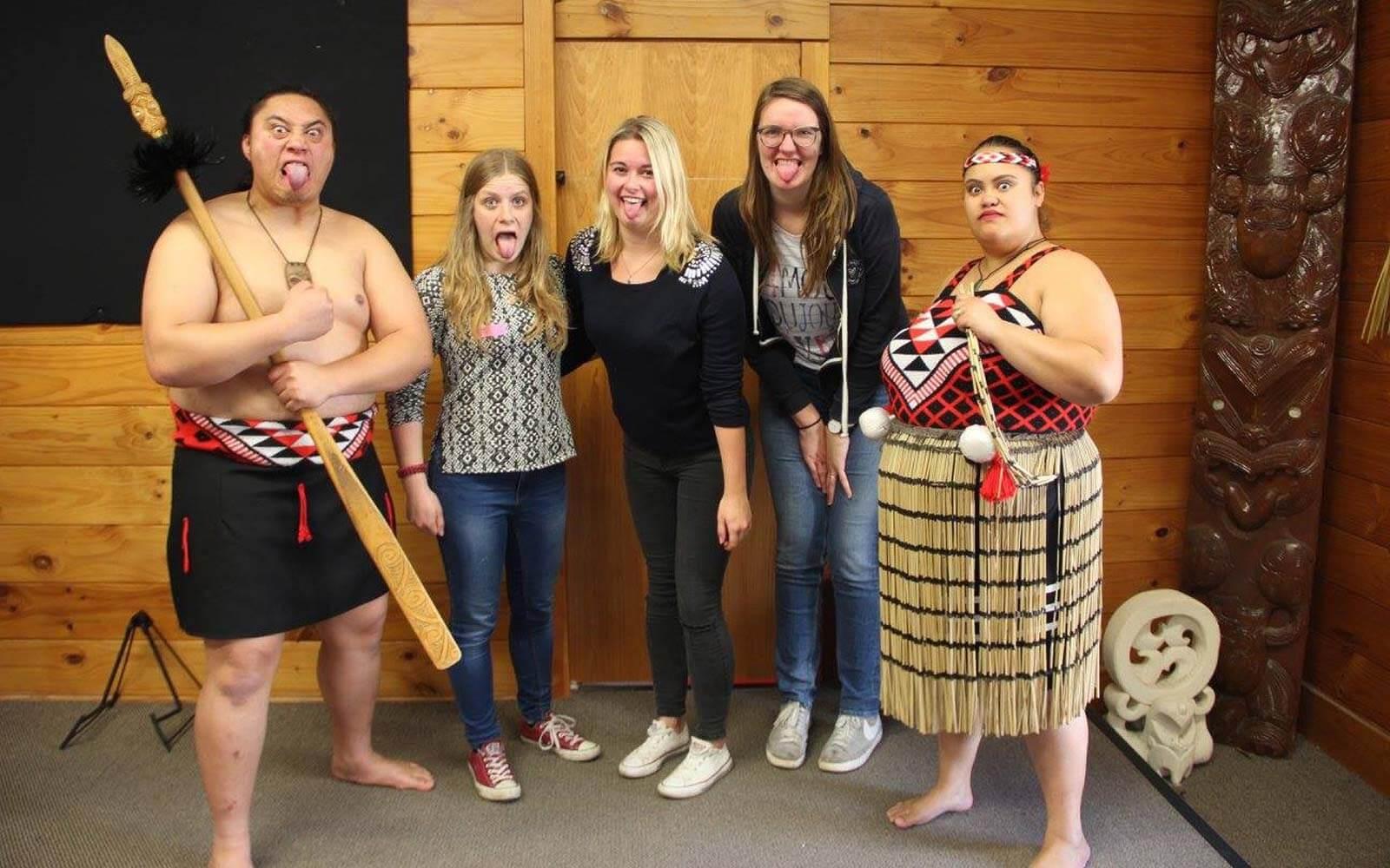 Maori-Gruppenfoto