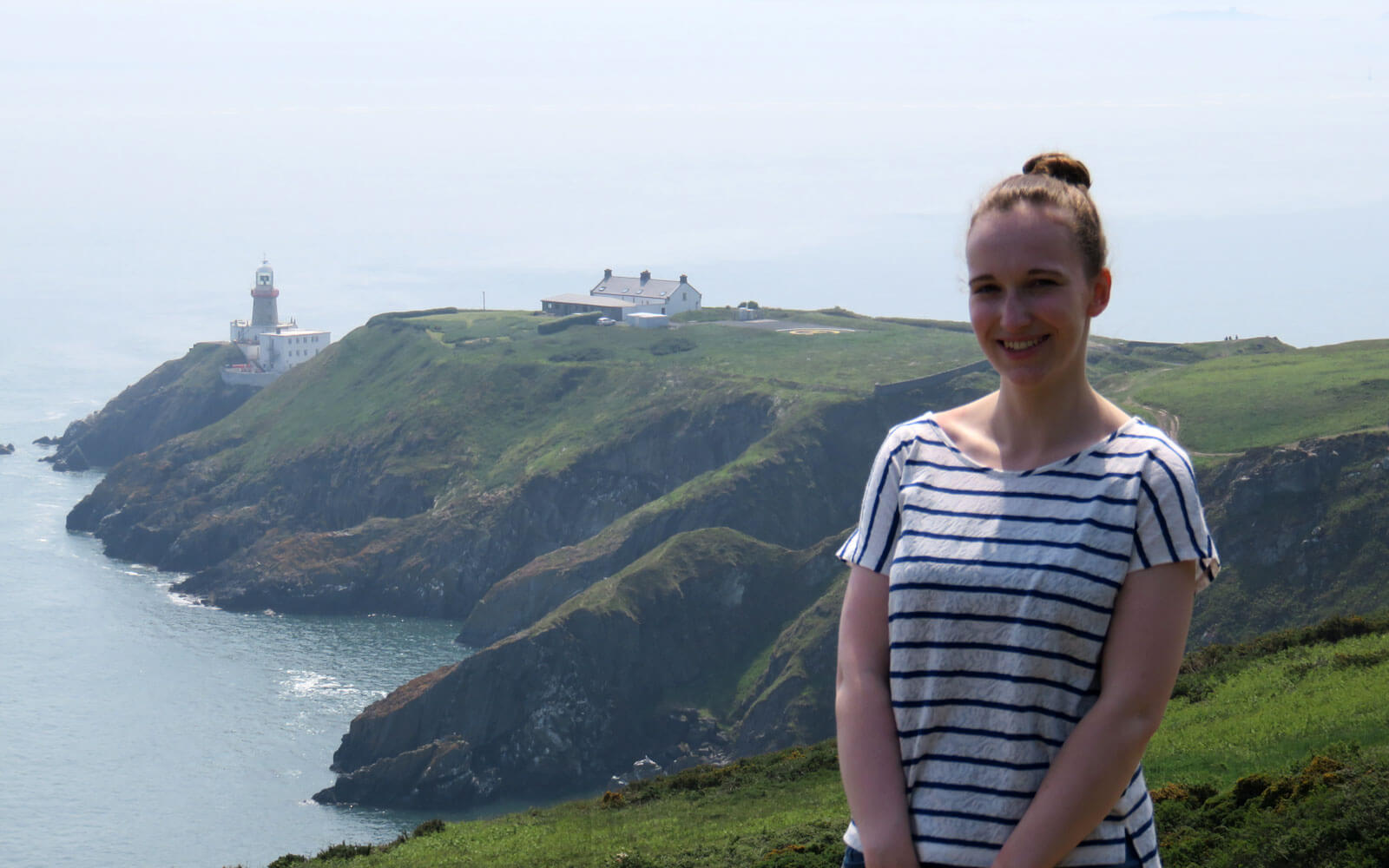 Maren am Baily Lighthouse auf Howth Head