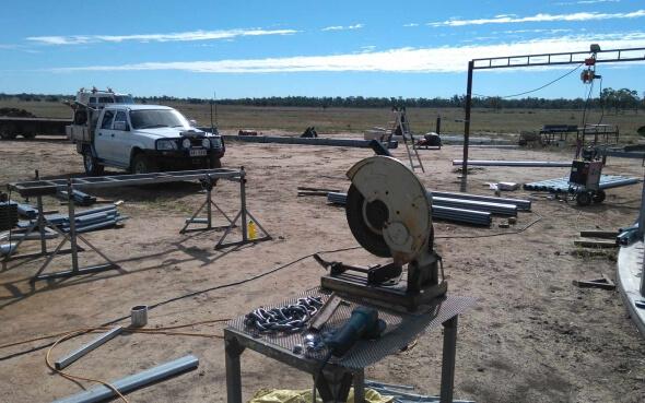 Stahlarbeiten im Outback