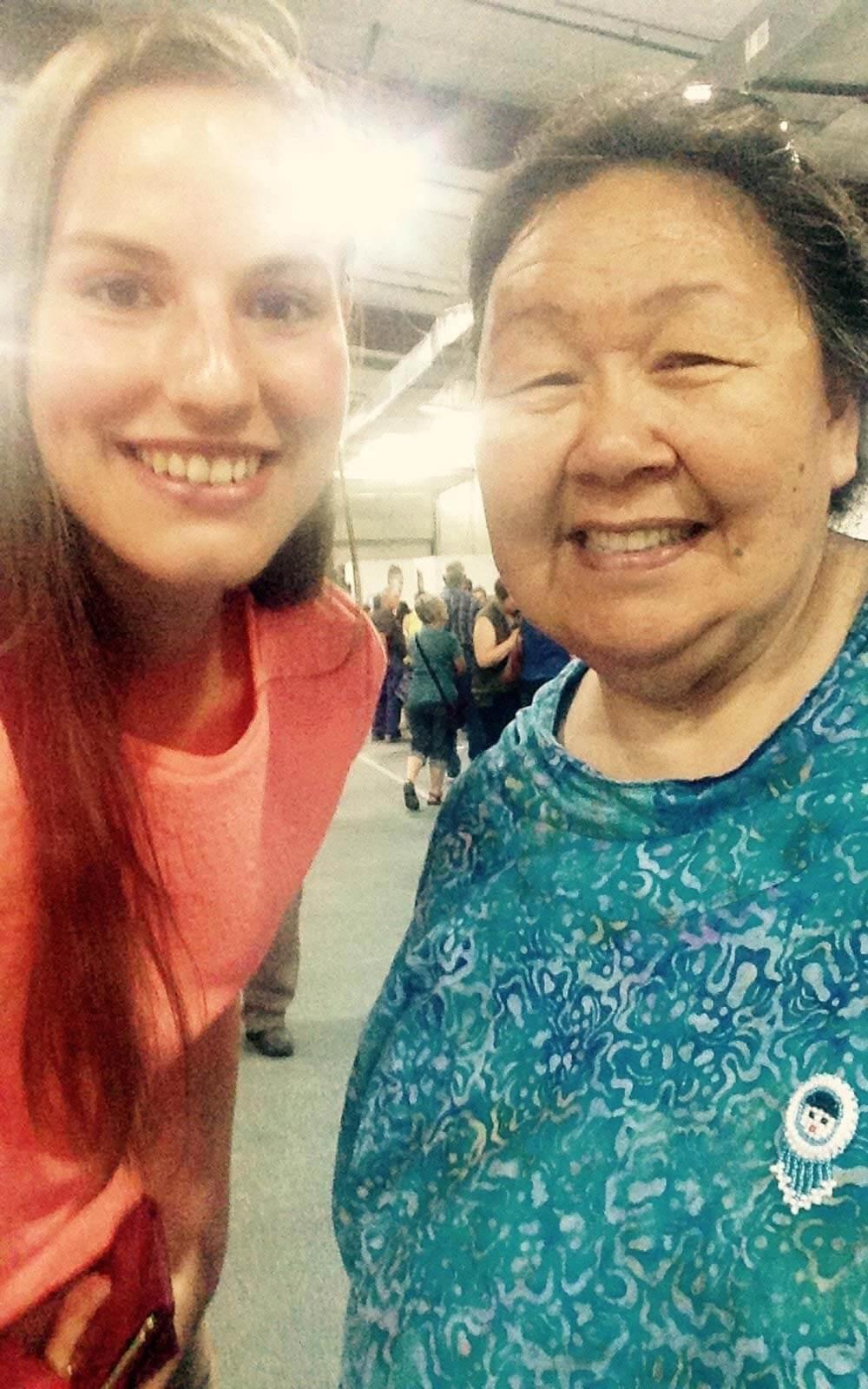 Selfie mit Inuit
