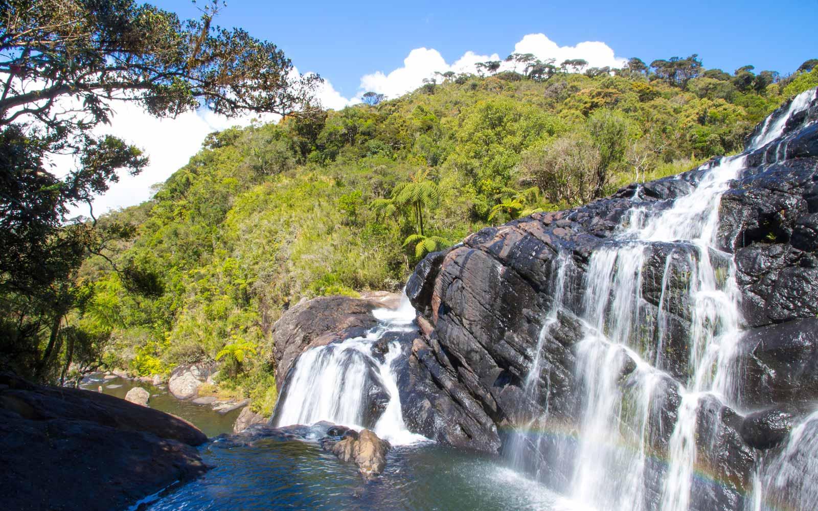 Wasserfall Horton Plains Sri Lanka
