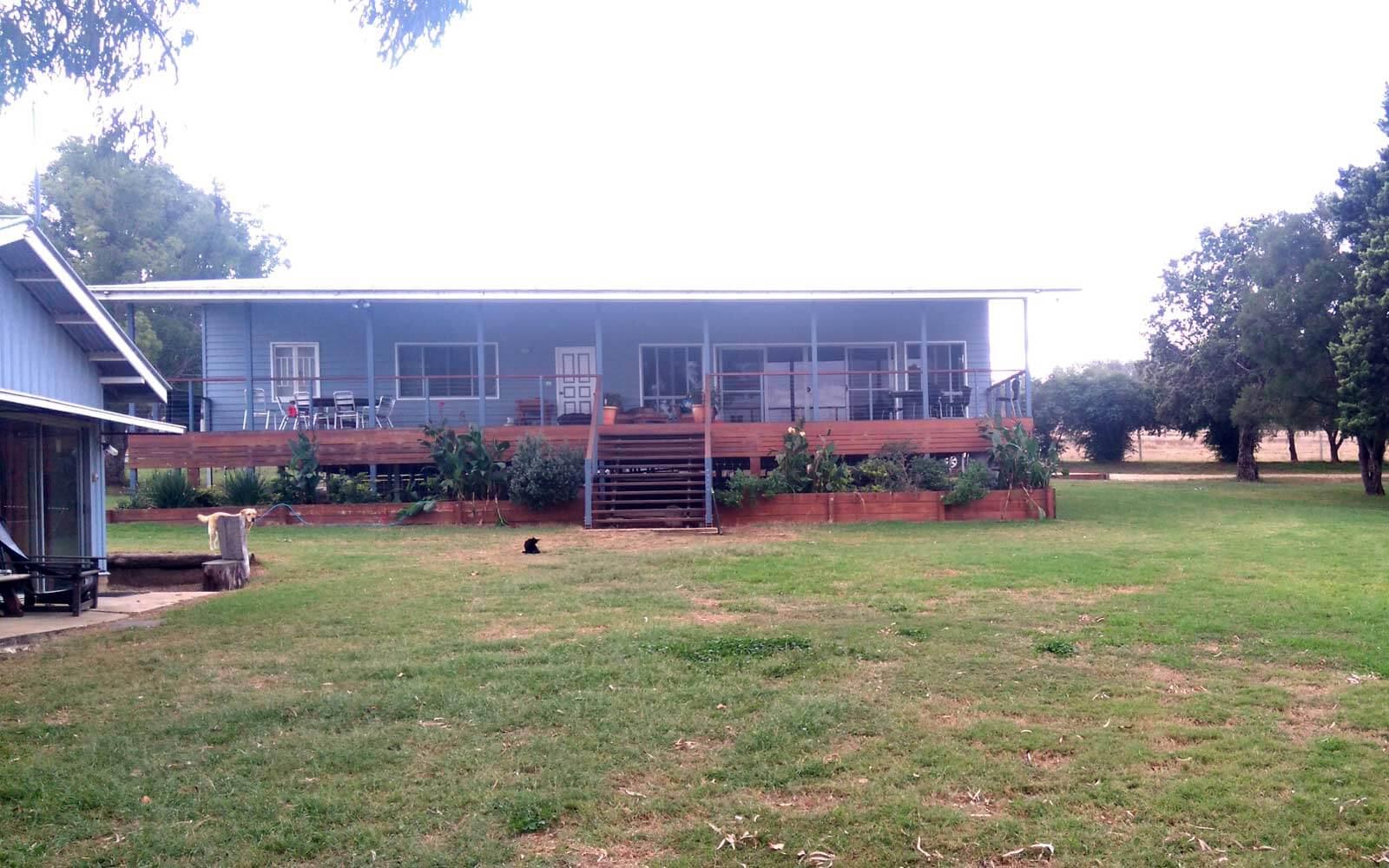 Wohncontainer auf der Trainingsfarm in Australien