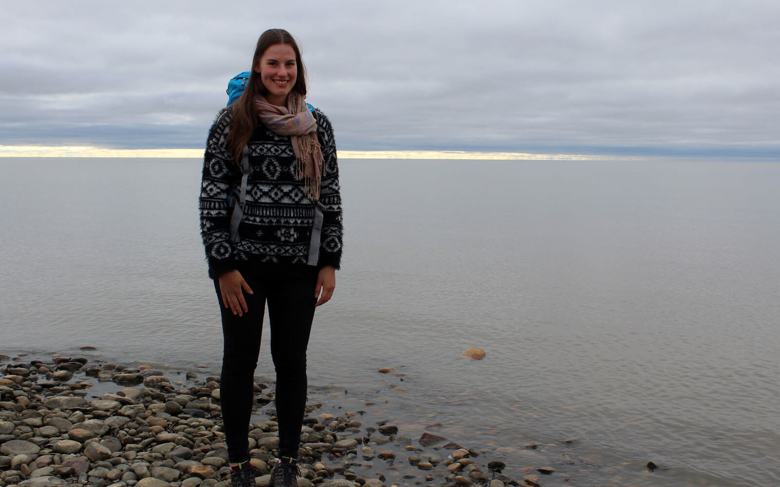 Anja am Arktischen Ozean