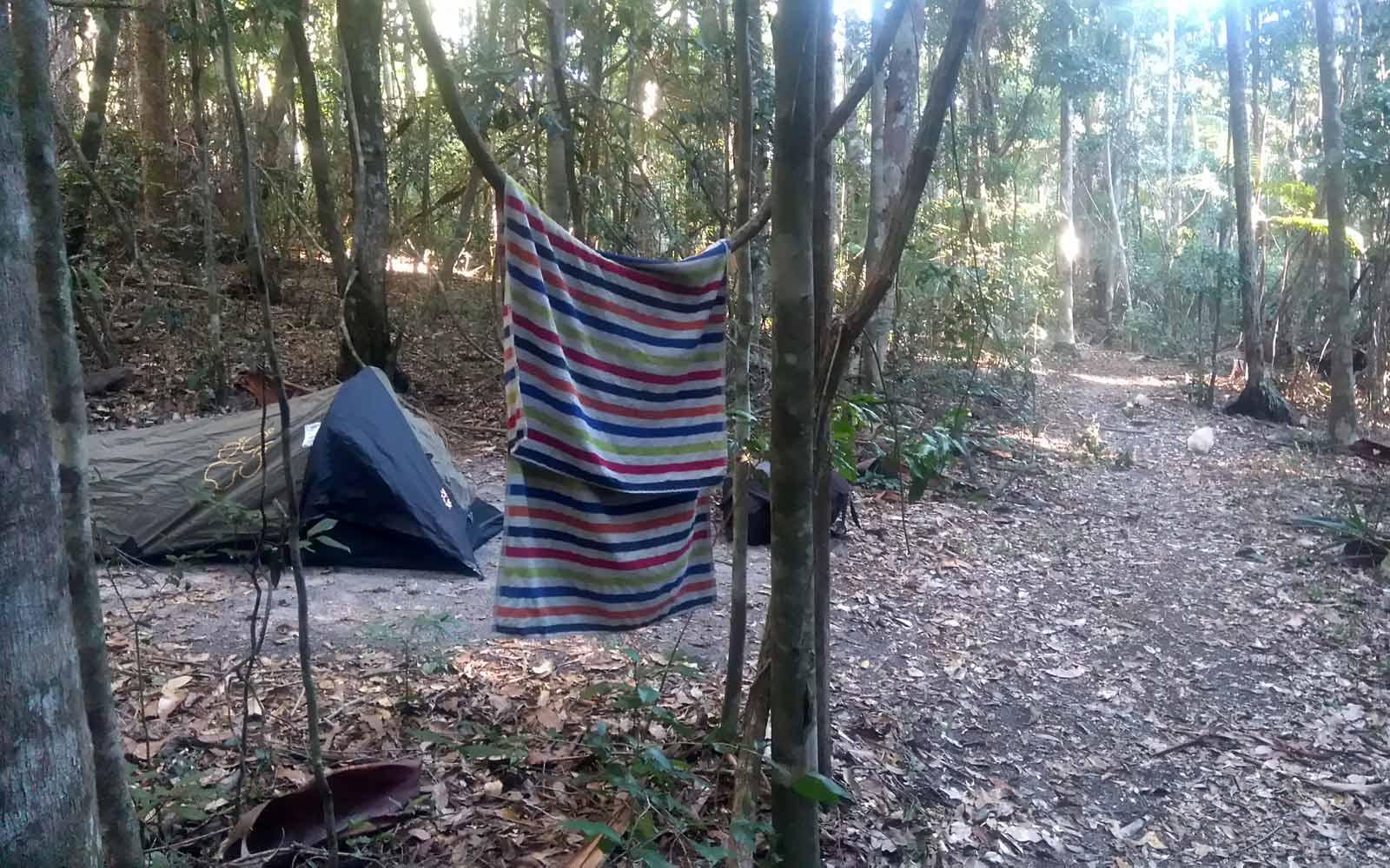 Camping im Busch