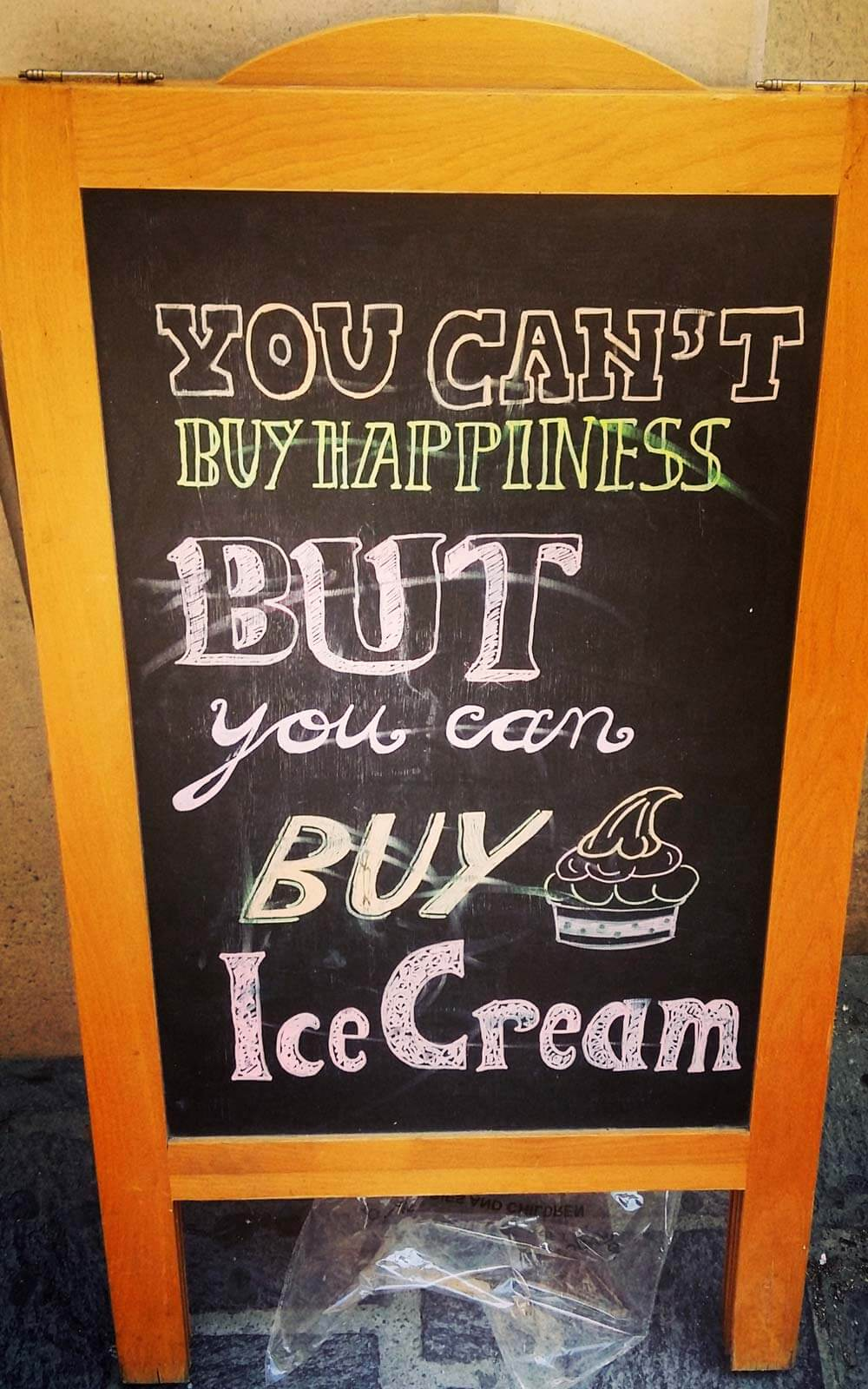 You can't buy happiness but you can buy Ice Cream Sign