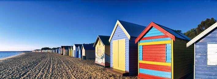 Beachboxes am Brighton Beach, Melbourne