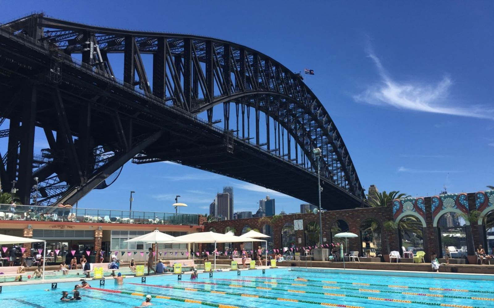 Olympic Pool, Harbour Bridge Sydney