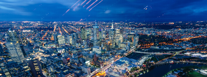 Aussicht vom Eureka Tower in Melbourne