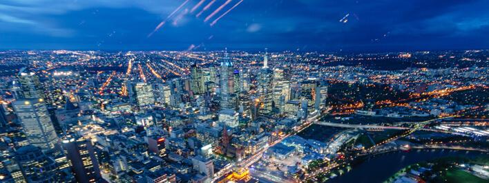 Aussicht vom Eureka Tower in Melbourne