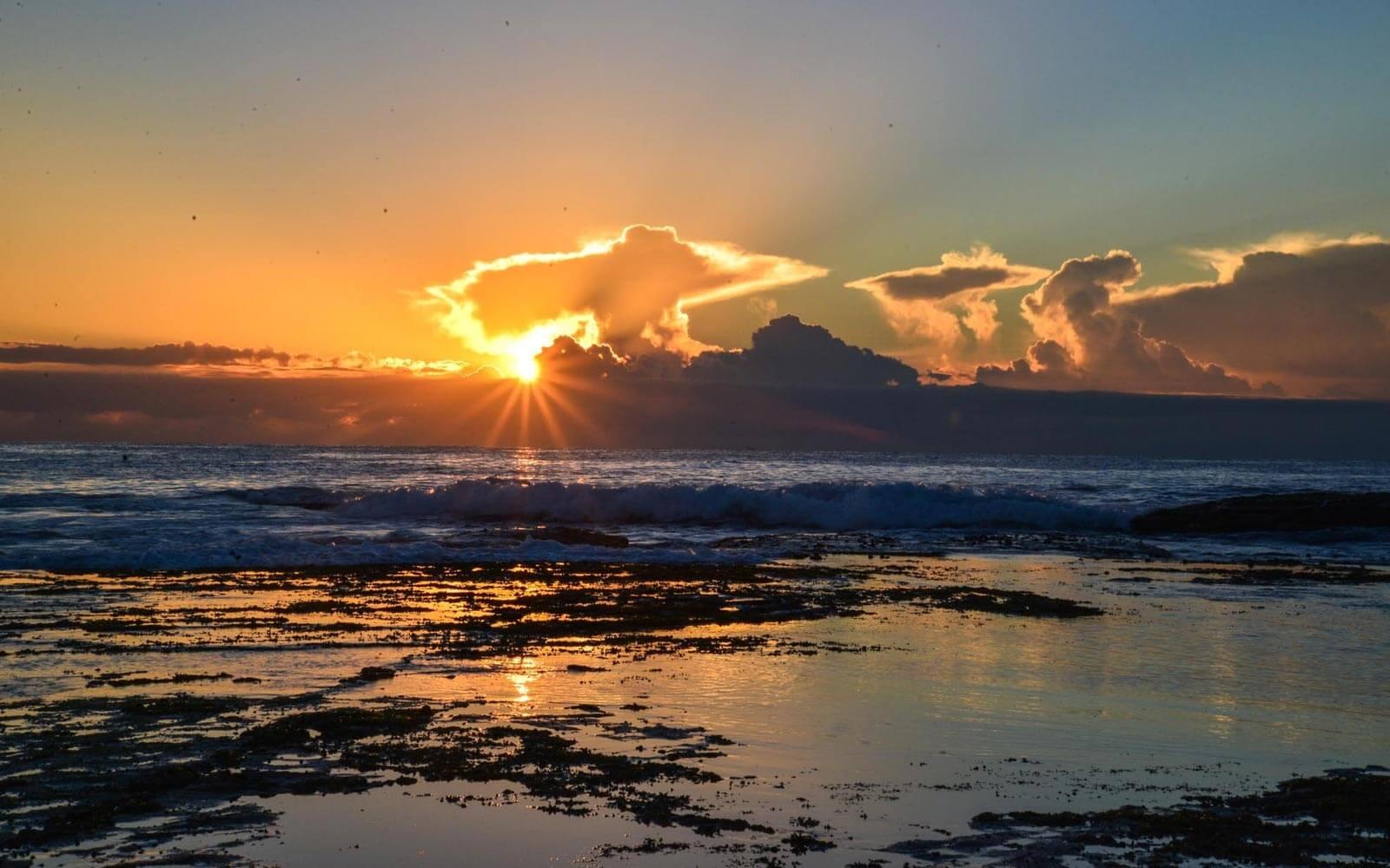 Sonnenaufgang am Mona Vale Beach, Sydney