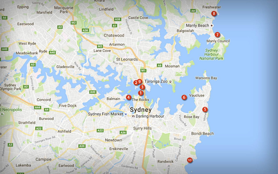 Top 10 Geheimtipps für Sydney