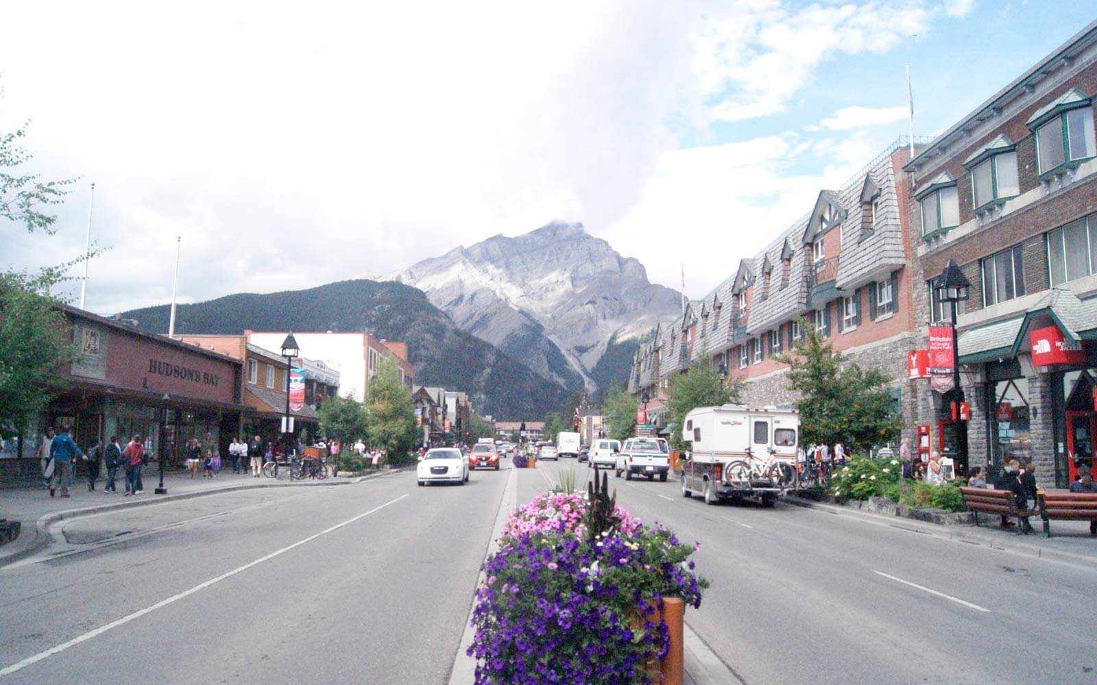 Banff Avenue in Kanada