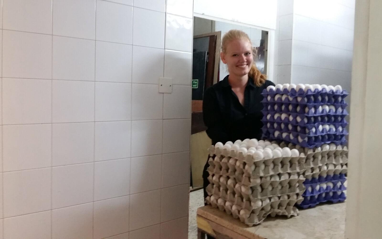 Eier fürs Frühstück im Hotel auf Malta