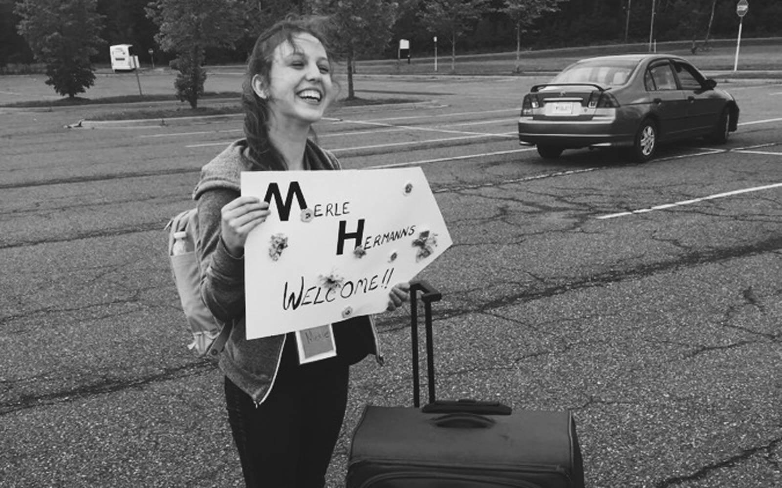 Begrüßung am Flughafen in Halifax, Kanada