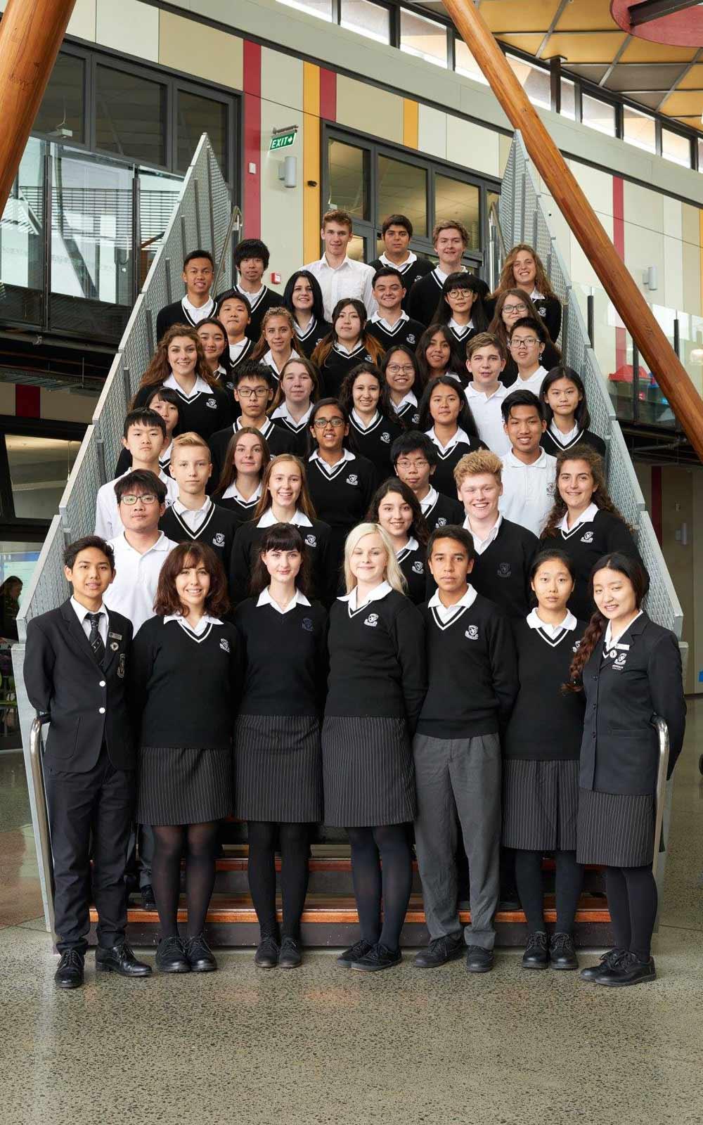 Austauschschüler des Avondale College in Auckland, Neuseeland