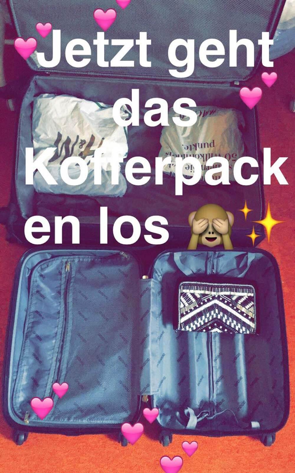 Kofferpacken für Amerika
