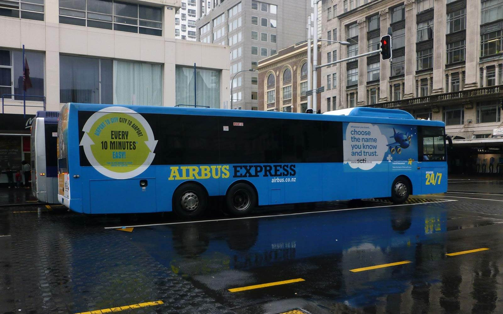 Airport Bus in Auckland, Neuseeland