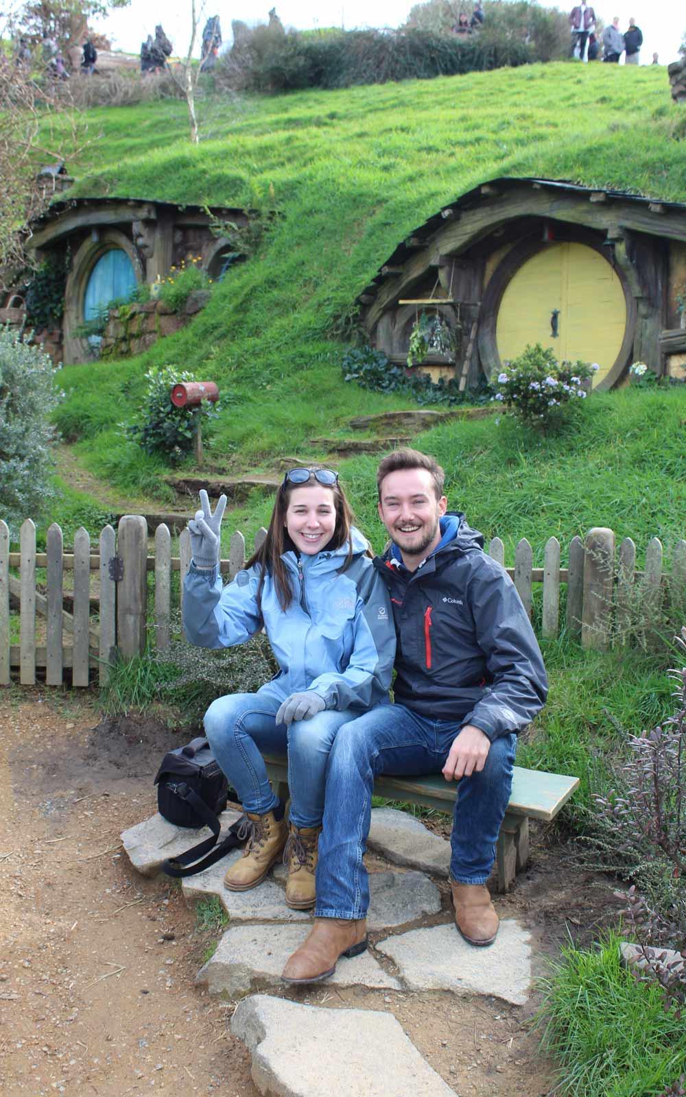 Constantin und Jasmina in Hobbiton