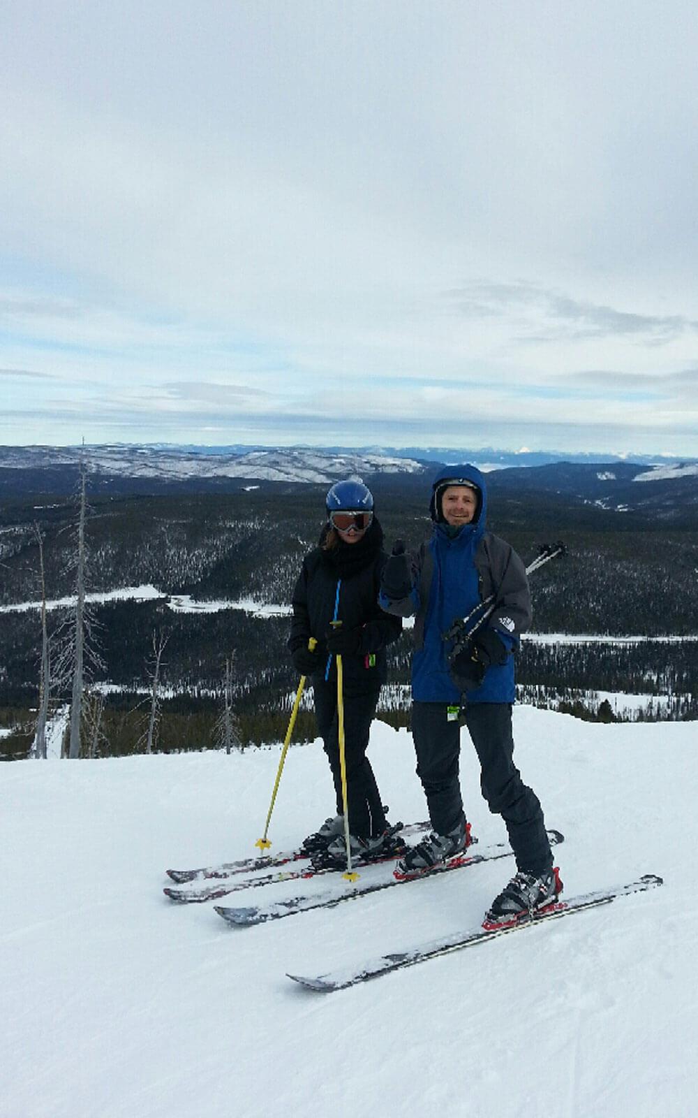 Skifahren in Montana, USA