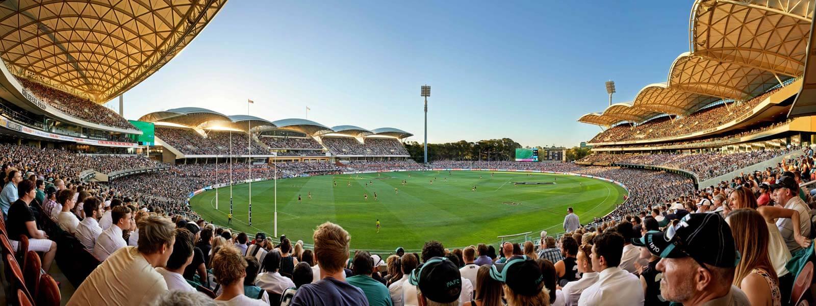 Panoramabild im Adelaide Oval