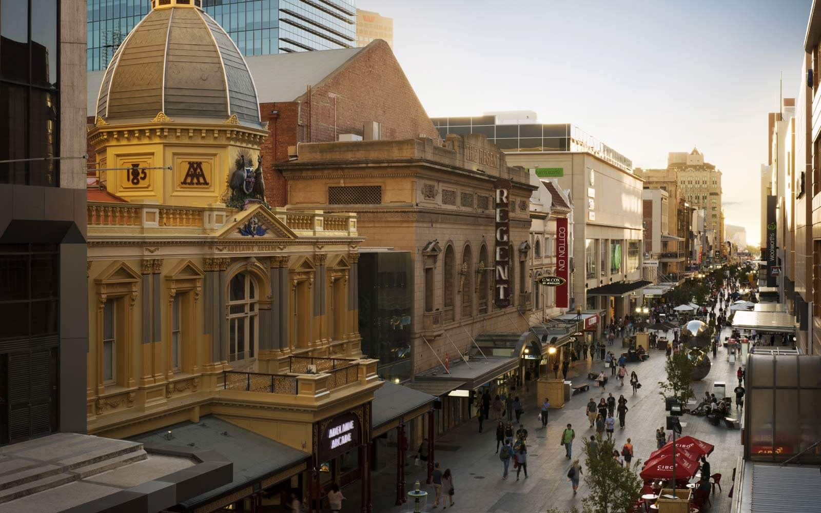 Rundle Mall in Adelaide