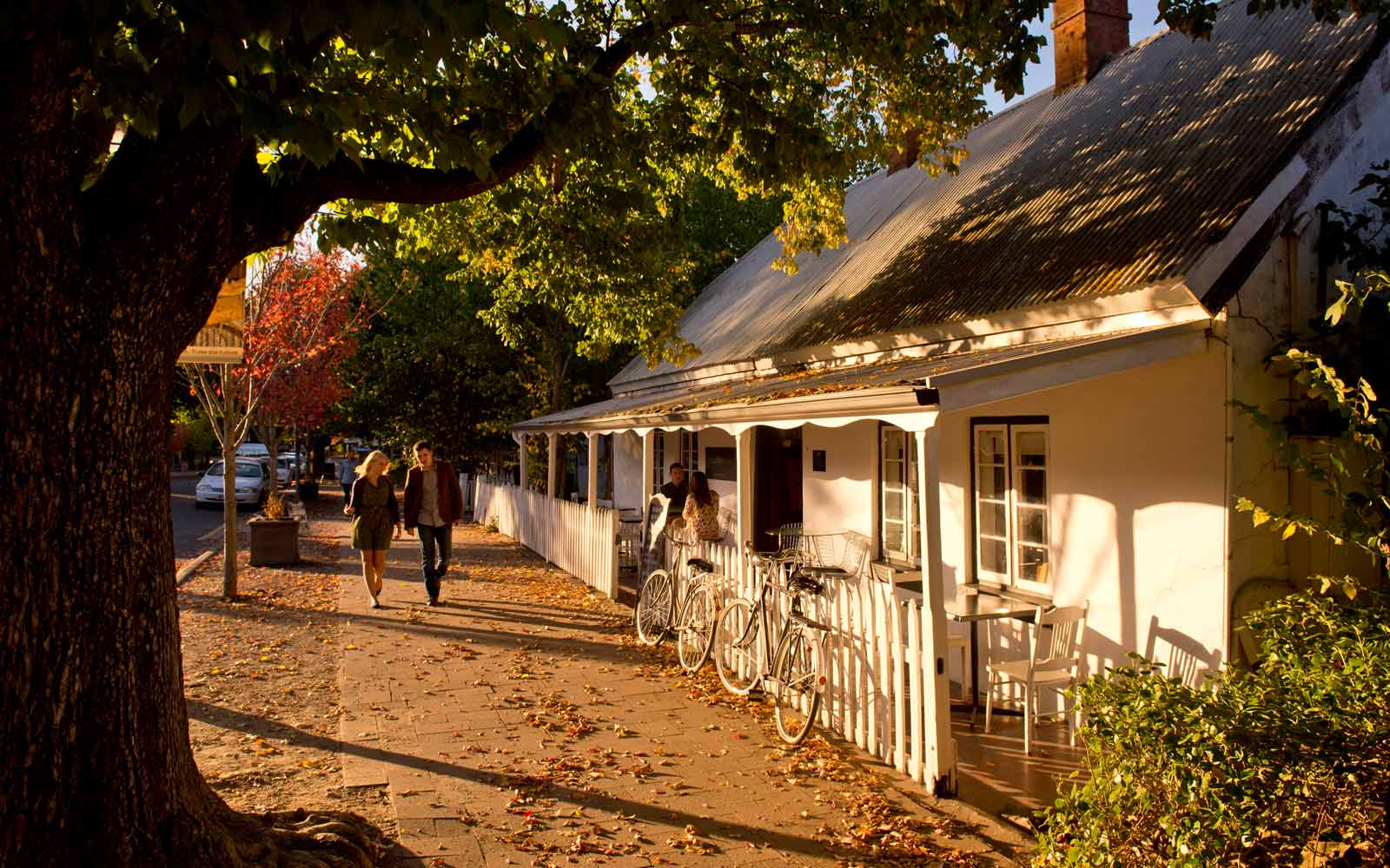 The white house in Hahndorf, Australien