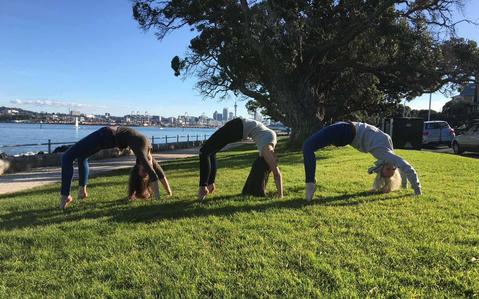 Akrobatik in Neuseeland