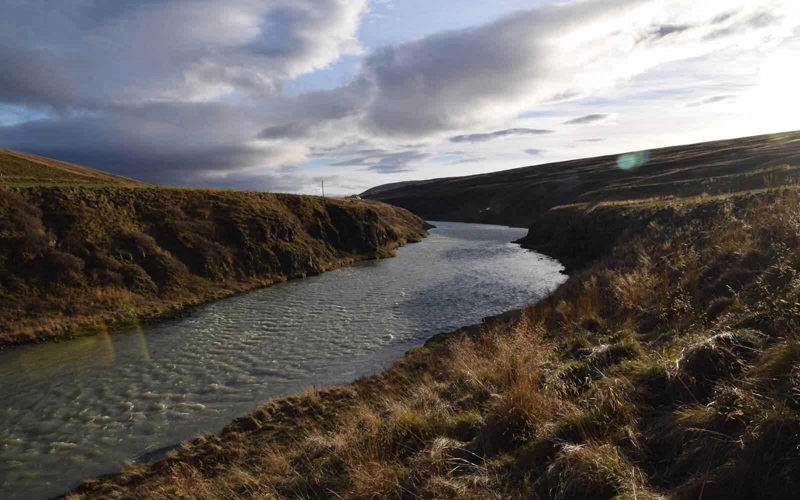 Gletscherfluss Blanda auf Island
