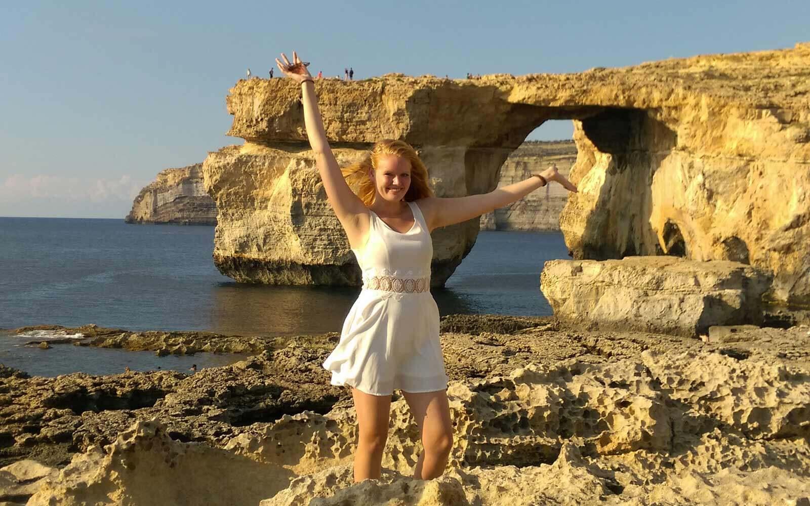 Jule vorm »Azure Window« auf Gozo