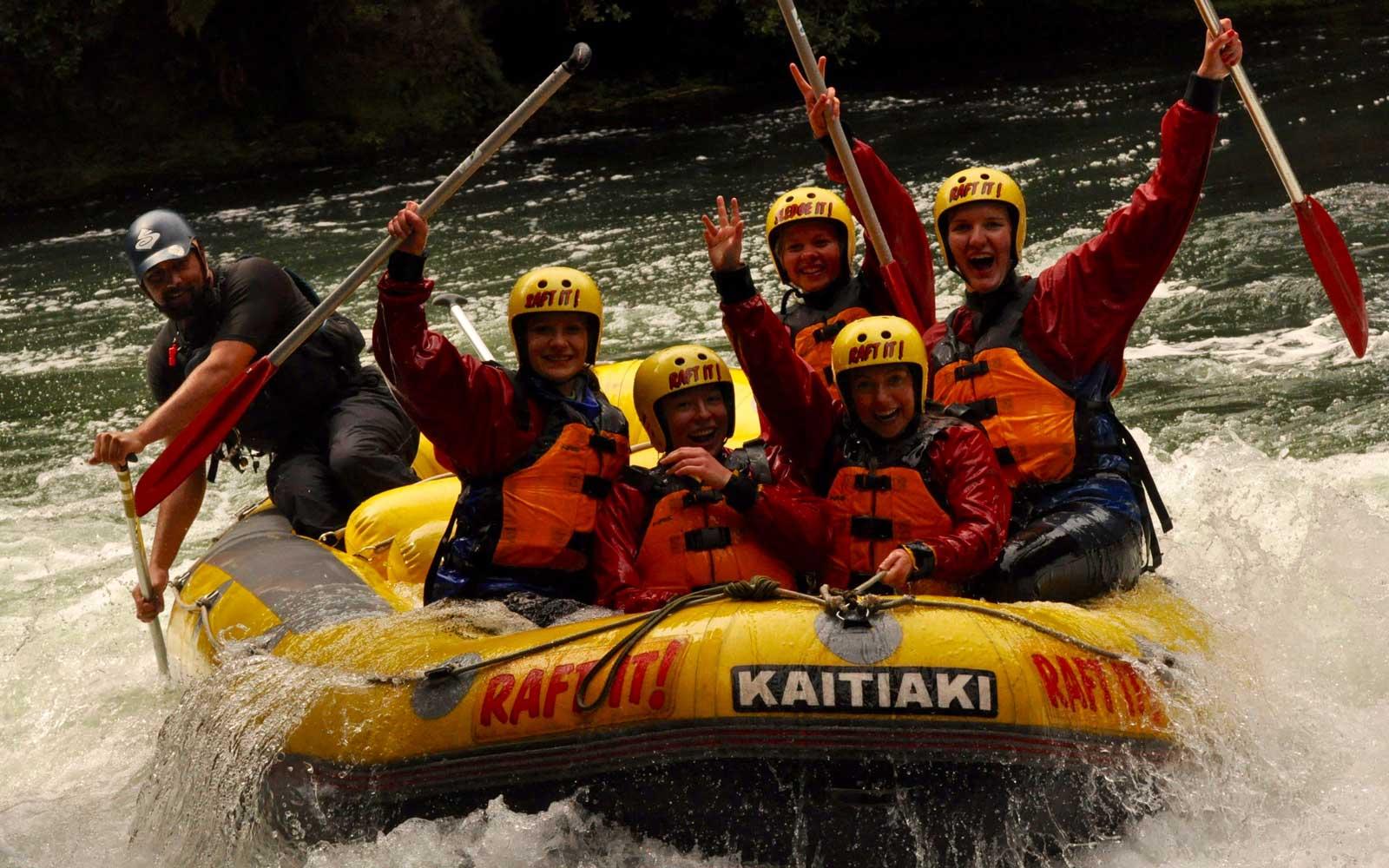 Rafting in Neuseeland