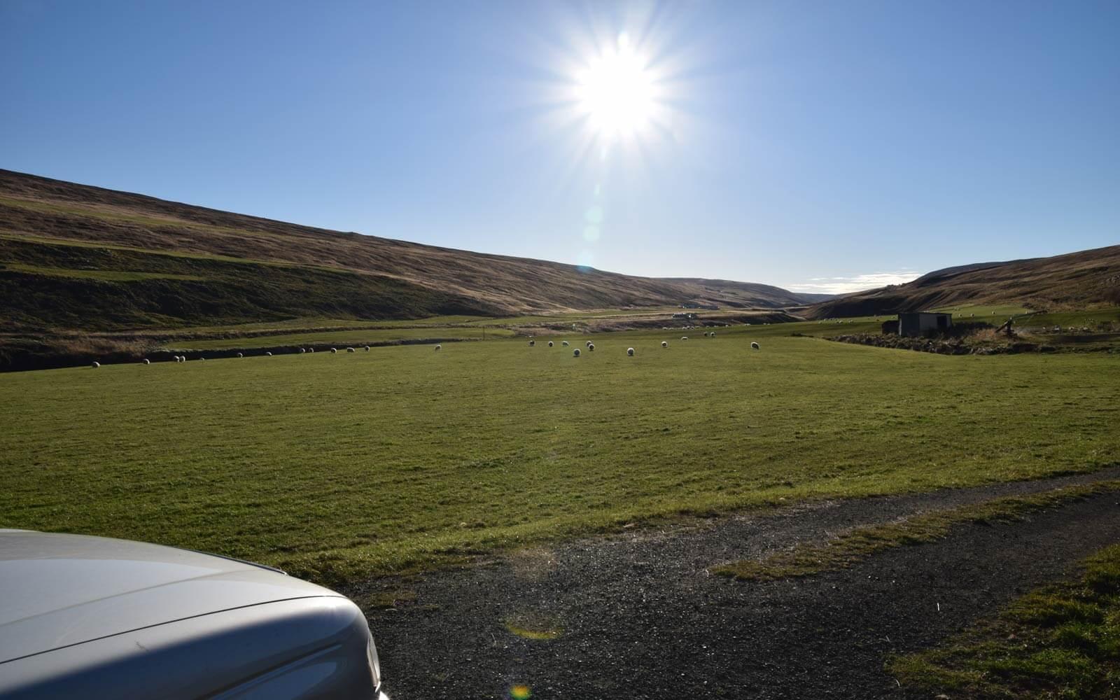 Sonne auf Island
