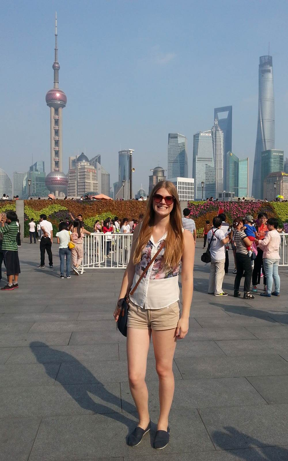 Touristin in China