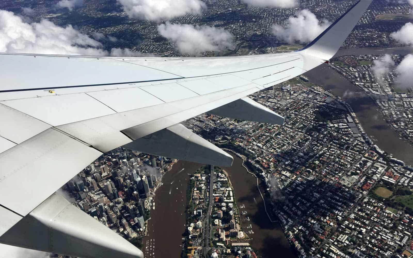 Landeanflug auf Brisbane