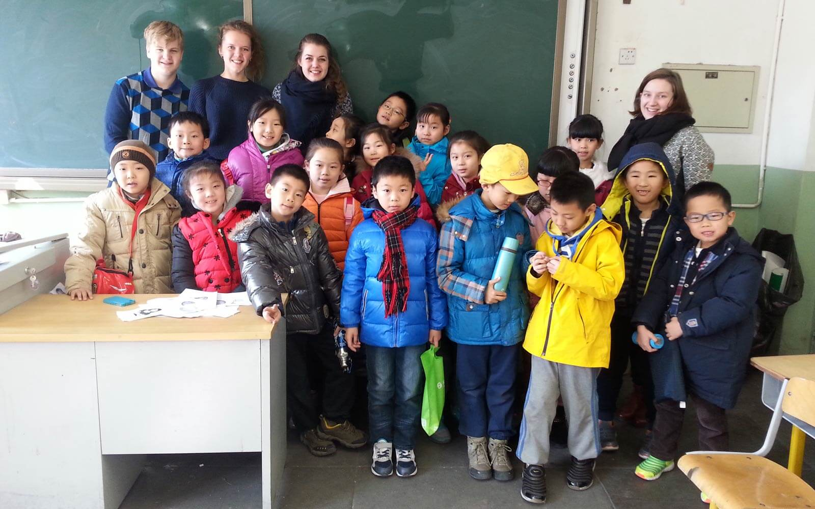 Chinesische Schulklasse