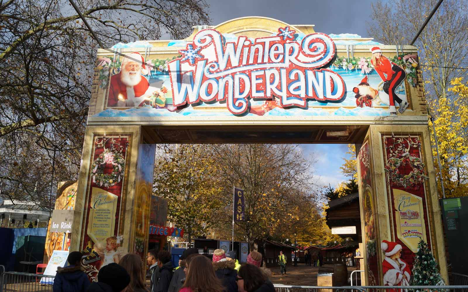 Eingang ins Winter Wonderland in London