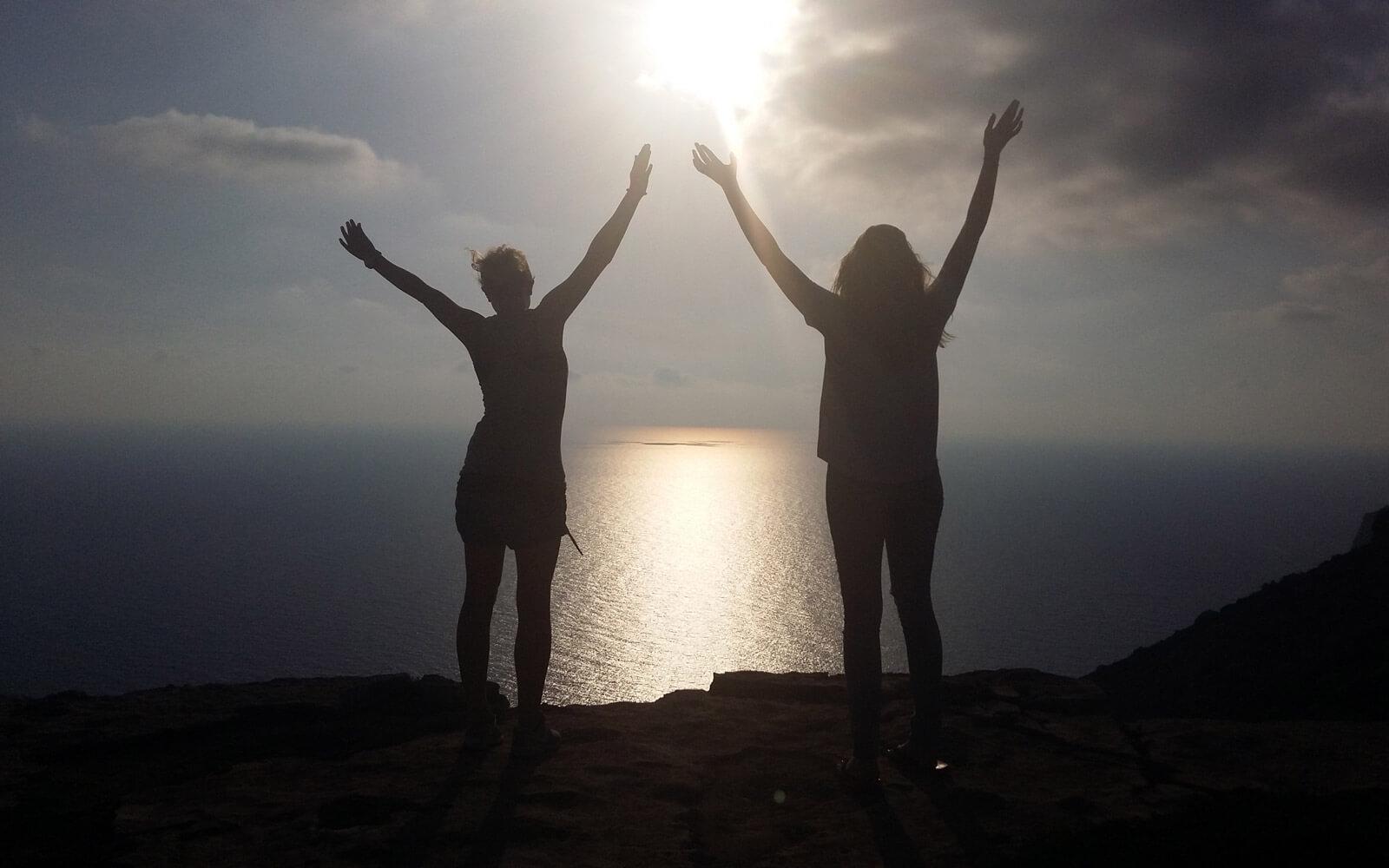 Freundinnen auf Malta