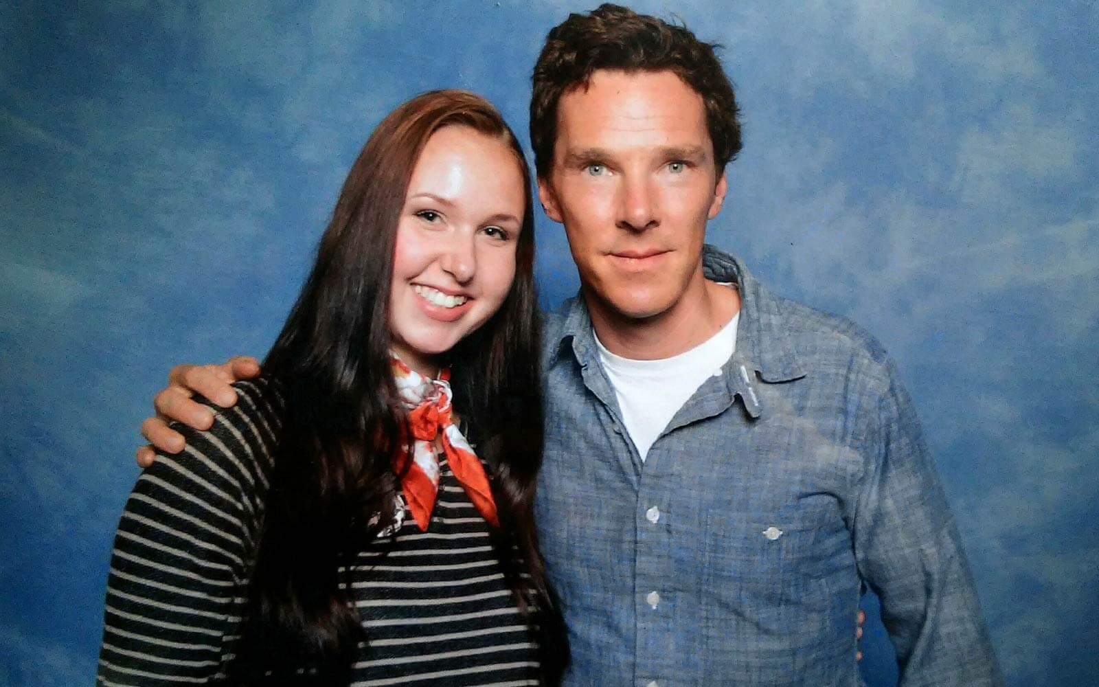 Theres mit ihrem Lieblingsschauspieler Benedict Cumberbatch