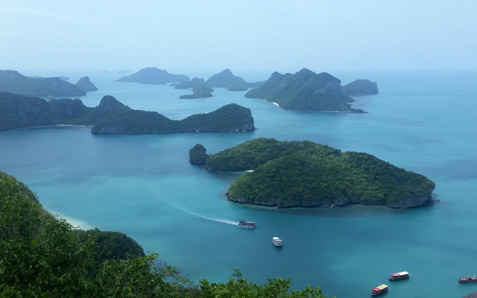 Ausblick vom View Point auf Koh Samui, Thailand