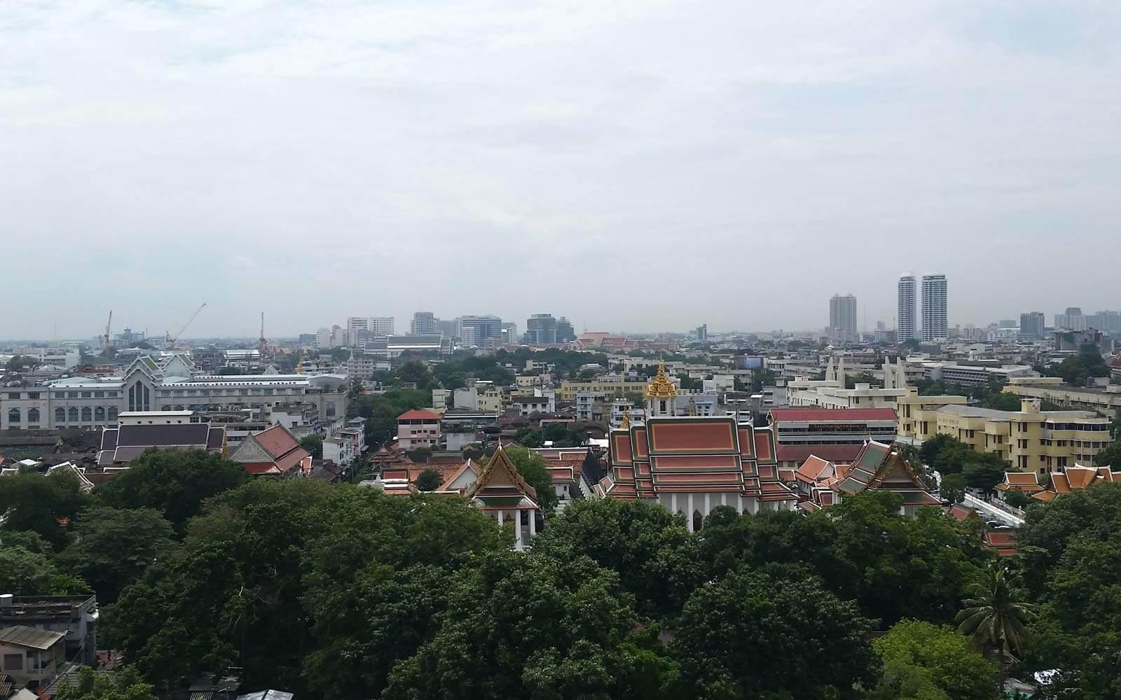 Aussicht über Bangkok vom Golden Mount