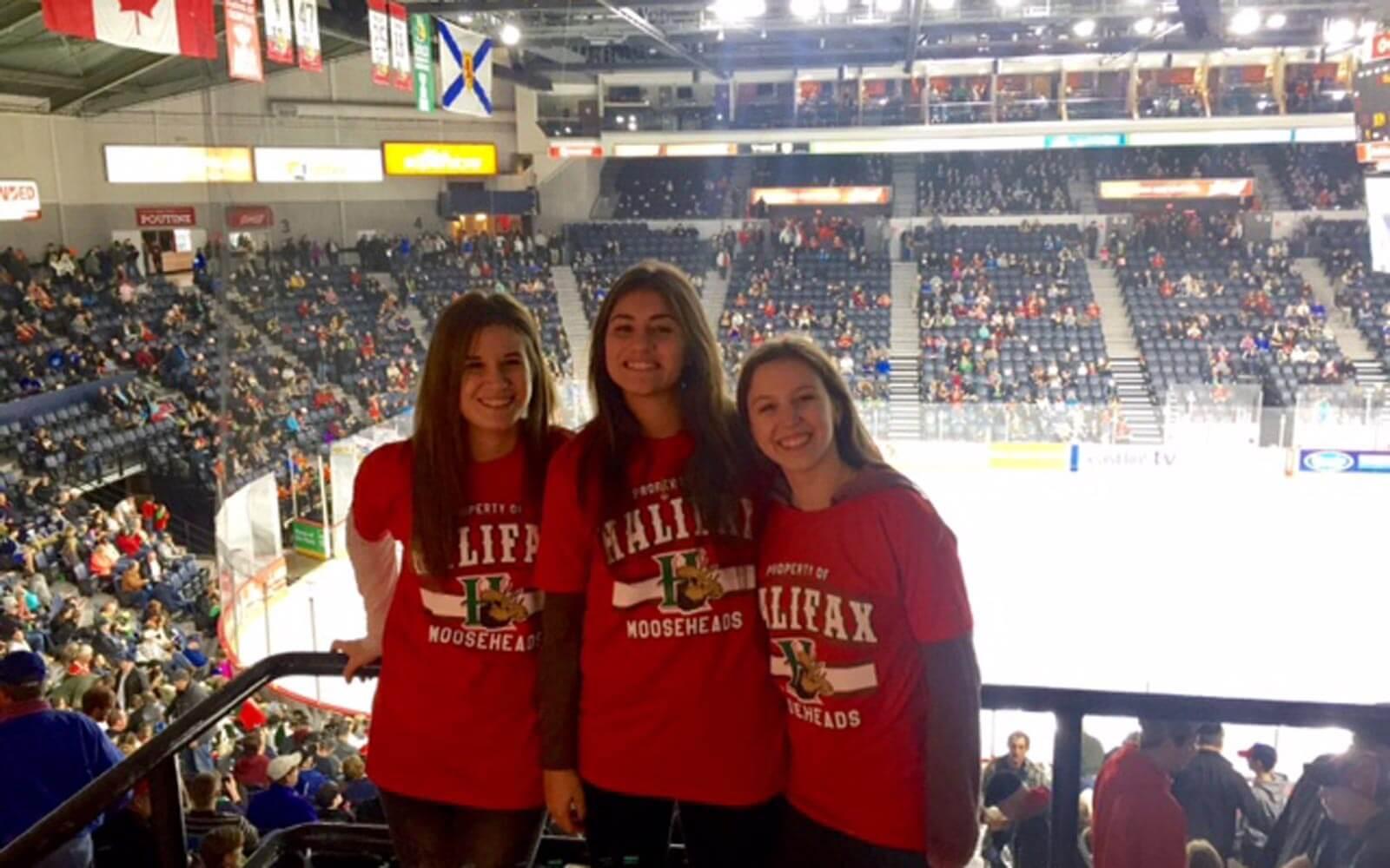 Eishockeyspiel in Halifax