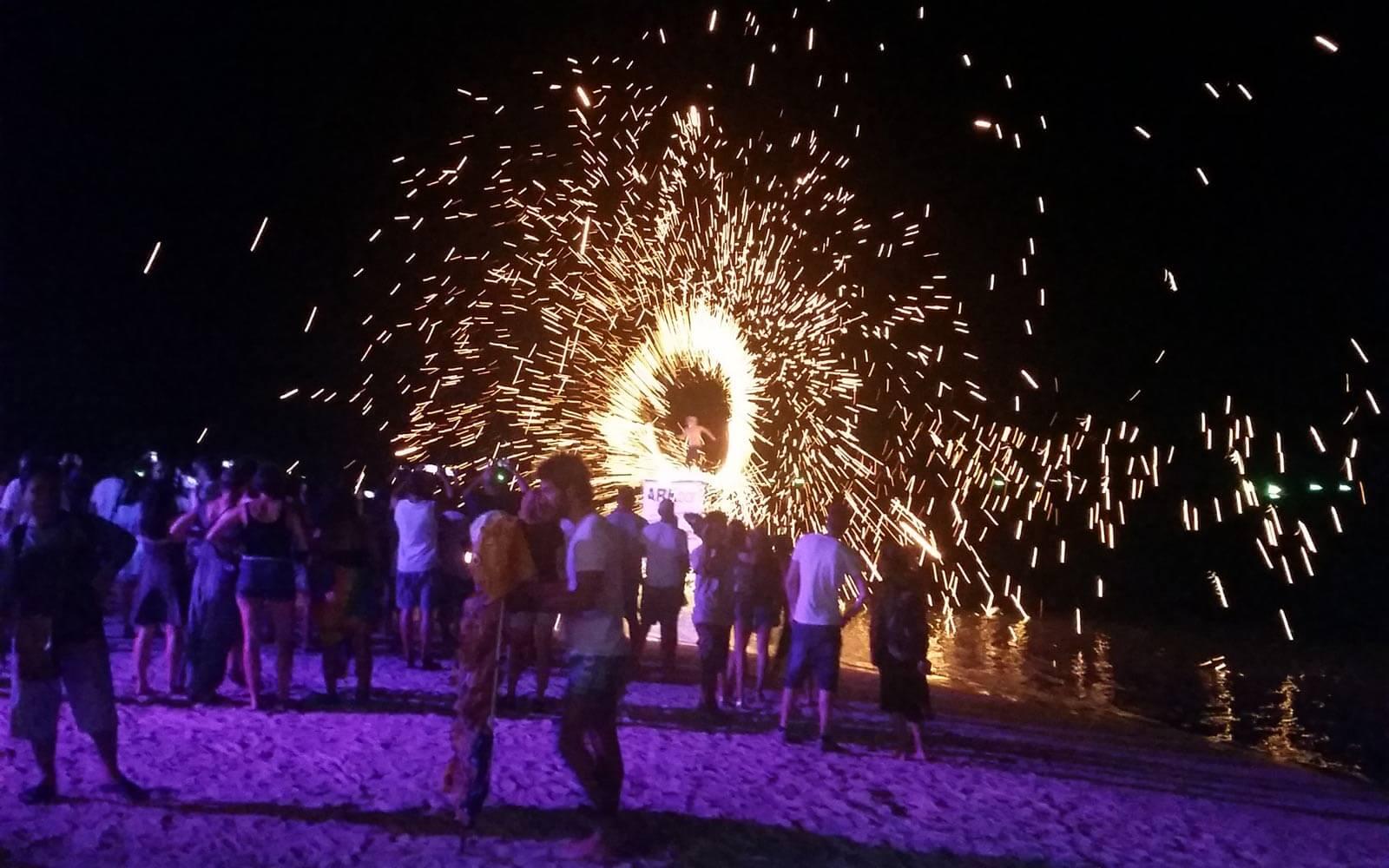 Feuershow auf Koh Samui