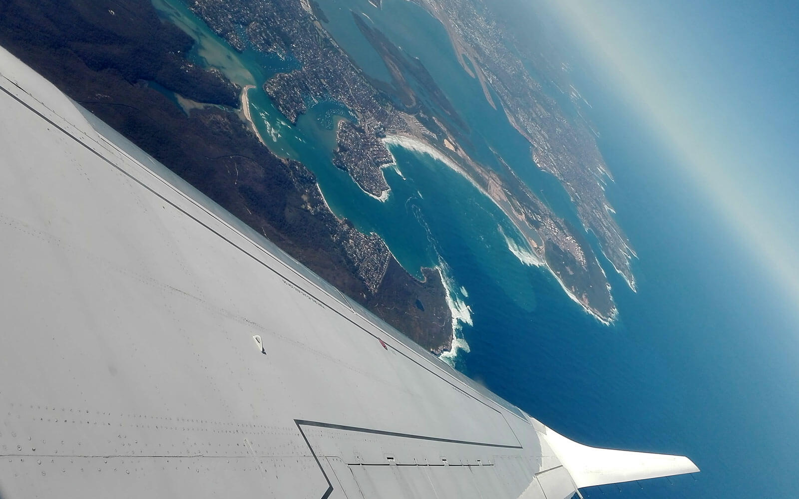 Flug über die Ostküste Australiens